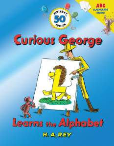 Curious George Leans the Alphabet (50th Birthday Edition with flash cards)