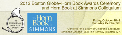2013 Boston Globe-Horn Book Award Ceremony and Horn Book at Simmons College