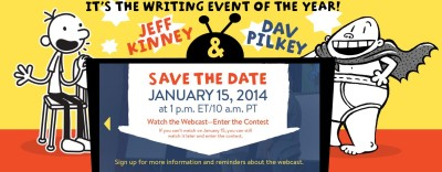 "Bestselling Author-Artists Jeff Kinney and Dav Pilkey Create A ""Story Smashup"" Live On Stage in Exclusive Scholastic Webcast"