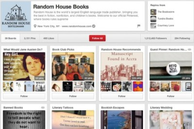 Random House Announces New Book Marketing Partnership with Pinterest