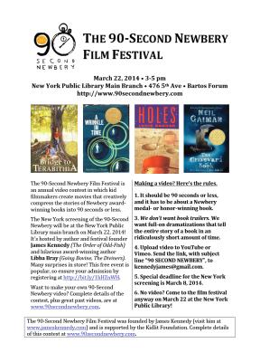 90 Second Newbery Film Festival
