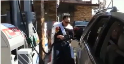 Have you ever pumped gas in a tiara?
