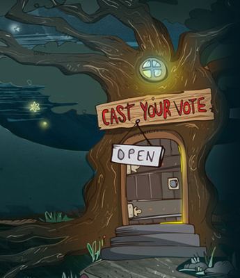 Have you visited the magical voting treehouse?
