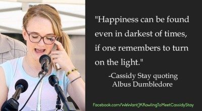 To Turn On The Light: Dumbledore's Letter to Cassidy Stay