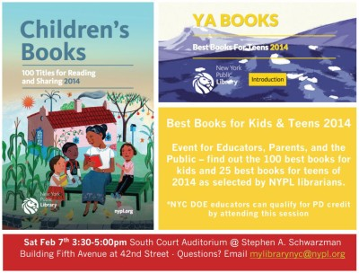 Best Books for Kids and Teens 2014 at The NYPL