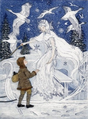 Illustration by Arthur Rackman, from 'The Snow Queen' by Hans Christian Andersen
