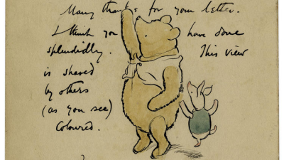 Winnie the Pooh Illustration Up for Auction