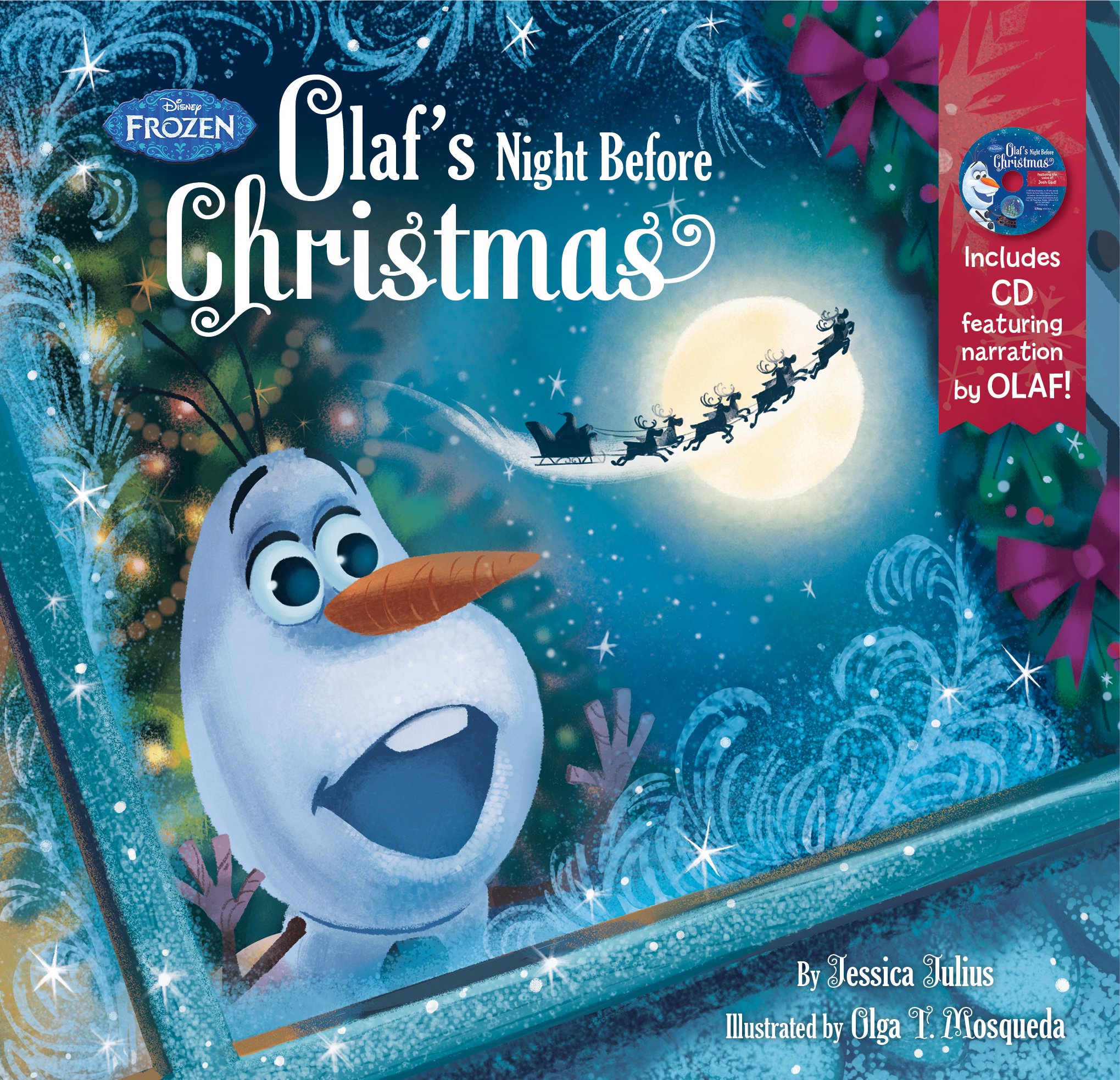 Frozen: Olaf\'s Night Before Christmas Book & CD – Children\'s Book ...