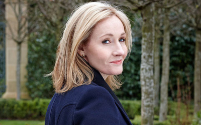 JK Rowling at Work on a New Children's Book
