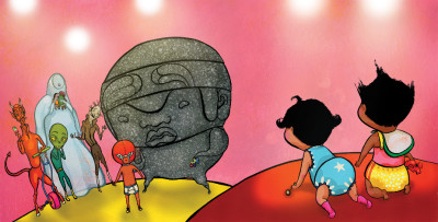 #DrawingDiversity: 'Niño Wrestles the World' by Yuyi Morales