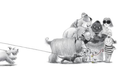 #DrawingDiversity: 'A Dog Wearing Shoes' by Sangmi Ko