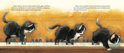 #DrawingDiversity: 'Ketzel, the Cat Who Composed,' illustrated by Amy June Bates