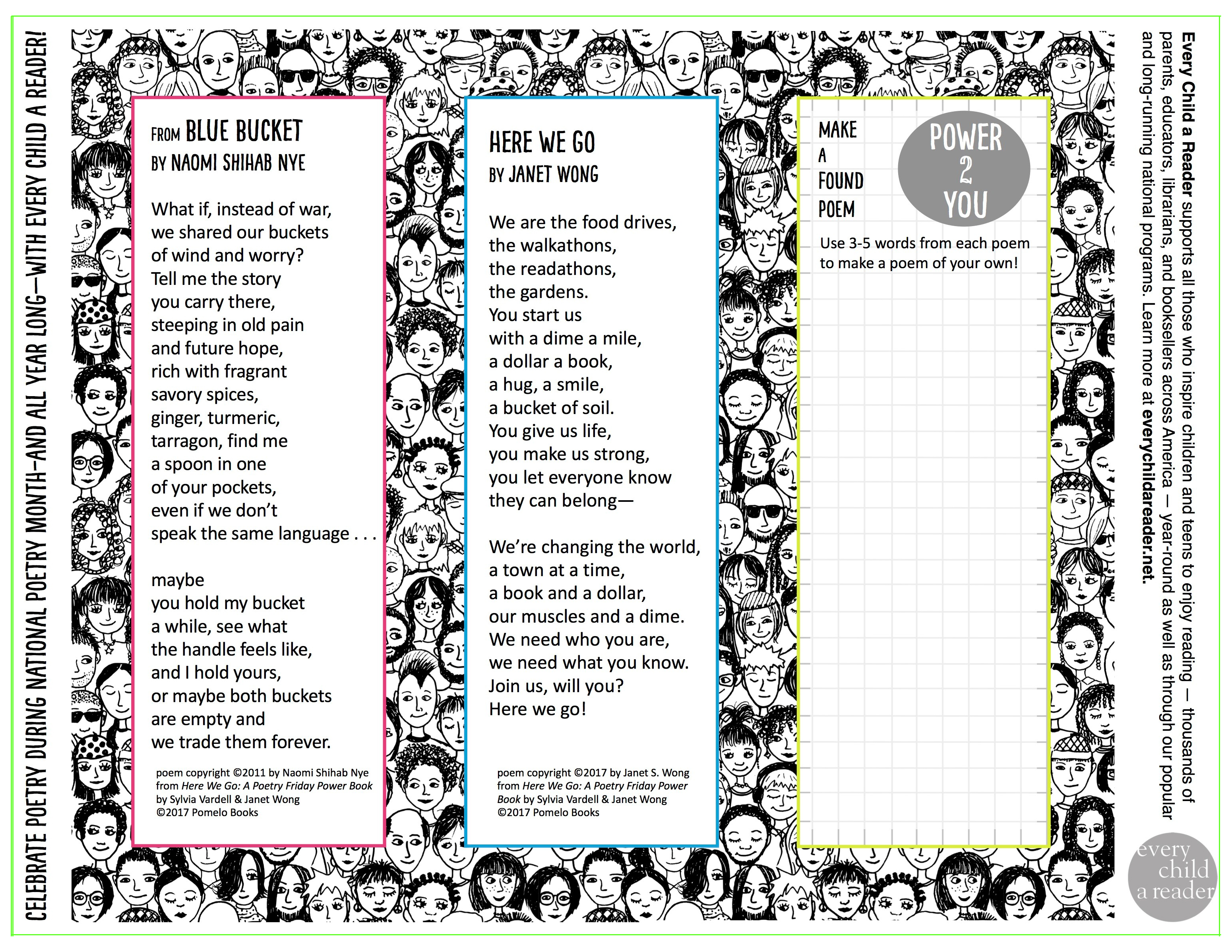 Exclusive Bookmark For National Poetry Month!