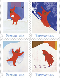 The Snowy Day Forever Stamps to be Issued by USPS This Fall!