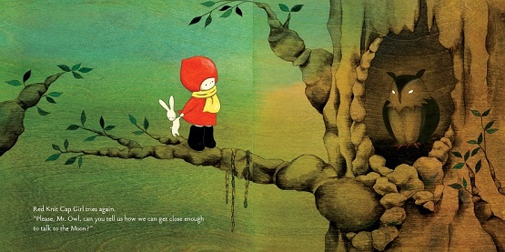 Red Knit Cap Girl by Naoko Stoop (Little, Brown Books for Young Readers/Hachette Book Group, June 2012). All rights reserved.