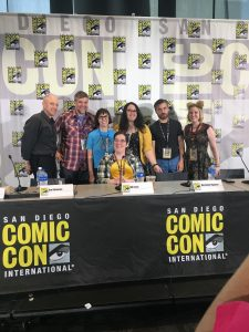 "Panelists from ""Science and History in Kids Comics"""